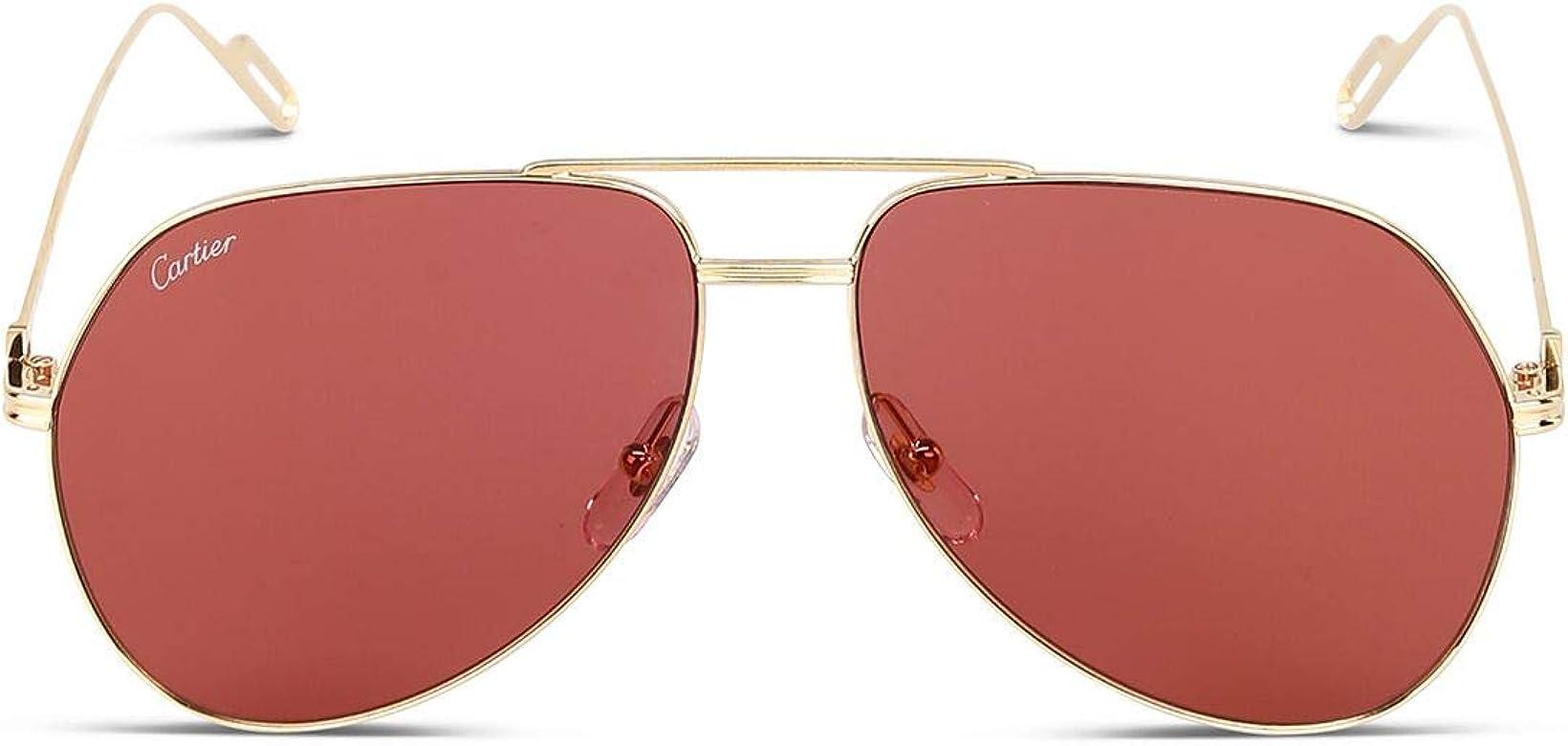 Luxury Fashion | Cartier Hombre Ct0110s010 Oro Gafas De Sol ...