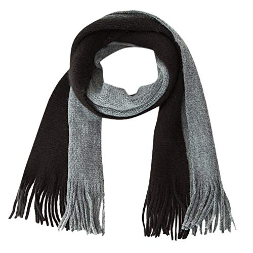 Price comparison product image Scarf for Kid, Children Boys Girls Knitted Splice Keep Warm Wraps Tassel Scarf (G)