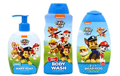 Paw Patrol Body Wash, Hand Soap, 2-in-1 Shampoo Bundle Set