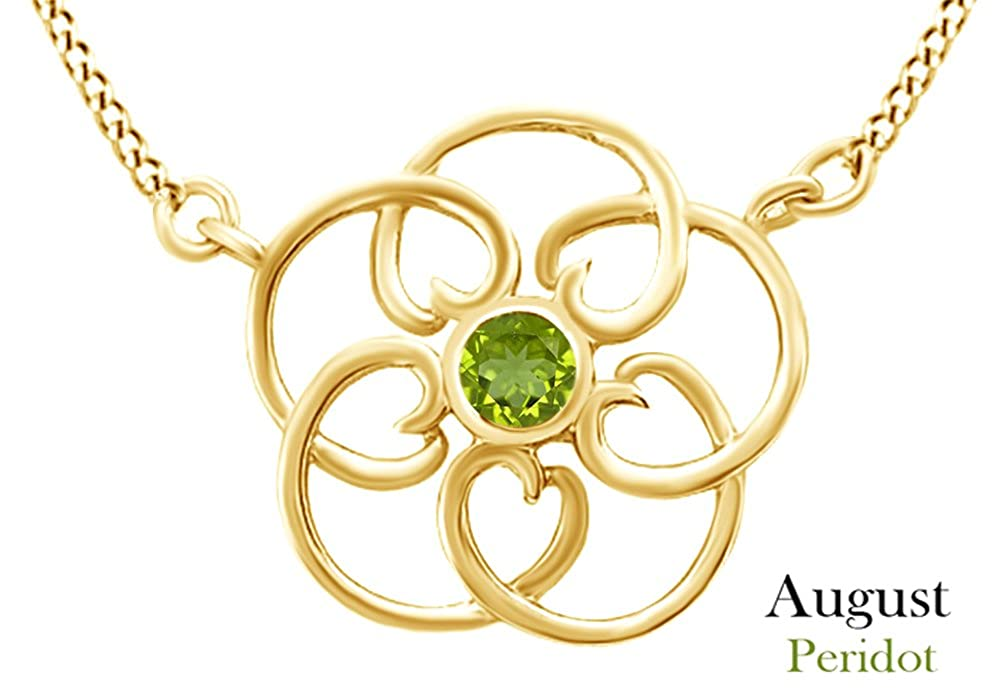 AFFY Filigree Pendant Necklace in 14k Yellow Gold Over Sterling Silver
