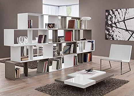 Libreria bifacciale centro stanza moderno design salotto soggiorno