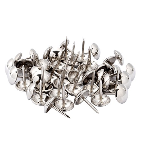 Outus Upholstery Nails Furniture Tacks Silver Finish Tack Pins, 0.4 Inch, 100 Pieces