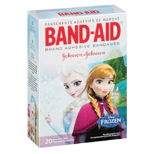 Band-Aid Adhesive Bandages, Disney's Frozen, Assorted Sizes, 20 Count Per Box (4 Pack)