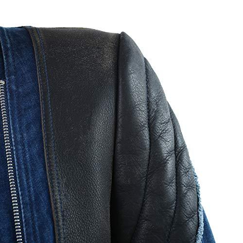 Veste Longues Femme Leathario Veste en Femme fonc l'impression bleu Jeans Femme fashion Courte Jean de luxe en en Veste Jeans wF4Pq