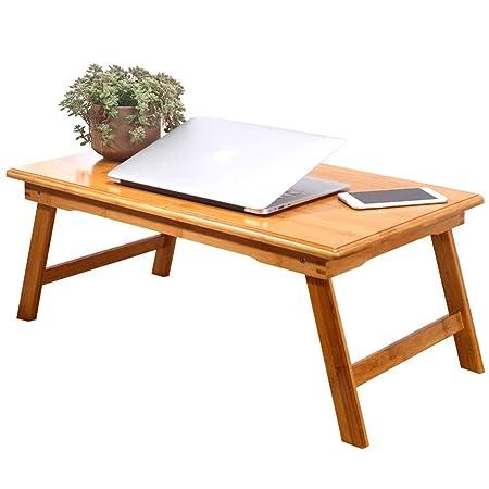 Escritorio plegable de bambú for computadora portátil, mesa de ...
