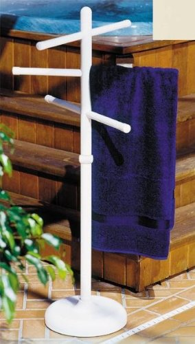 Outdoor Spa and Pool Towel Rack - Bone (Outdoor Spa And Pool Towel Rack compare prices)