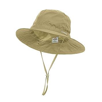 d26e109ebc2e85 huici Windproof Fishing Hats UV Protection Sun Cap Outdoor Bucket Mesh Hat  56-63cm