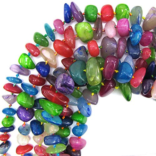 12-22mm Multicolor Jade Nugget beads 18'' Strand Stand