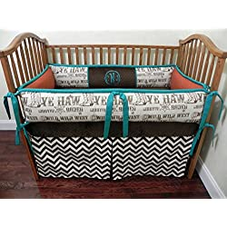 Nursery Bedding, Baby Crib Bedding Set Colton, Boy Baby Bedding, Cowboy Crib Bedding, Western Nursery Bedding - Choose Your Pieces