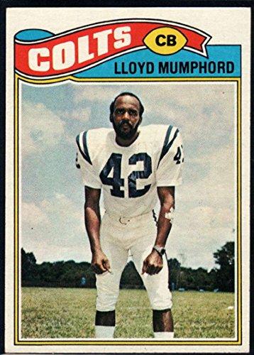 Football NFL 1977 Topps #153 Lloyd Mumphord Colts (1977 Topps Card Colts)
