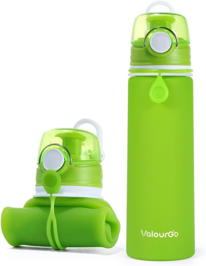 ValourGo Botella de Agua Plegable con Válvula a Prueba de Fugas ...