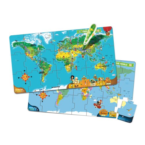 Leapfrog leapreader world puzzle map works with tag amazon leapfrog leapreader world puzzle map works with tag amazon toys games gumiabroncs Gallery