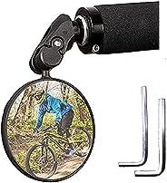 TANNOZHE Bike Mirror for Bar End,Bicycle Mirror Handlebar,Flexible Bike Rearview Mirror Fits Handlebar of Hole