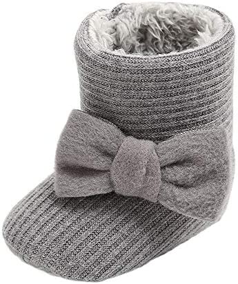 CLOUCKY Infant Bowknot Booties Winter