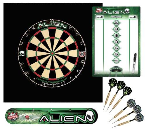 Dart World Area 51 Alien Dartboard Kit ()