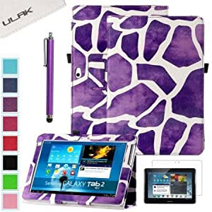 Bloutina Pandamimi ULAK(TM) PU Leather Slim Fit Folio Magnetic Stand Case Cover for Samsung Galaxy Tab 2 10.1 inch P5113...