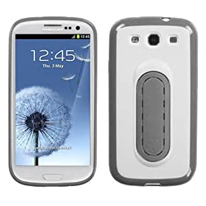 White Snap Tail Stand Snap-on Hard Case For SAMSUNG Galaxy S 3/III/GS3 MYBAT