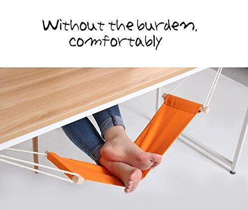 新しい机の下のハンモックに足を快適なデスクワーク足カラー(ブラック) オレンジ ZOE017-Orange B078NV8CZQ  オレンジ