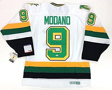 check out ebe63 1c1db Autographed Mike Modano Jersey - PSA/DNA Certified - 5 at ...