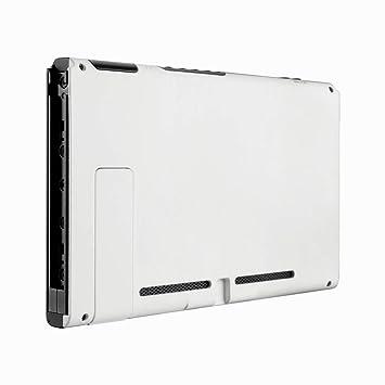eXtremeRate Carcasa para Nintendo Switch,Funda Trasera de la Consola de NS Shell Cubierta de reemplazo con un Soporte para Nitiendo Switch (Blanco ...