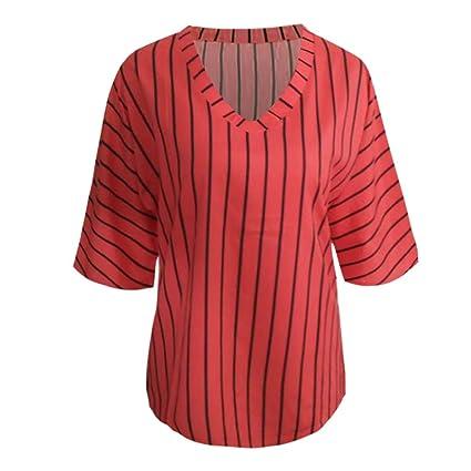 Blusa Mujer,Yesmile Blusas Camisetas de Gasa Ropa de Mujer Suéter ...
