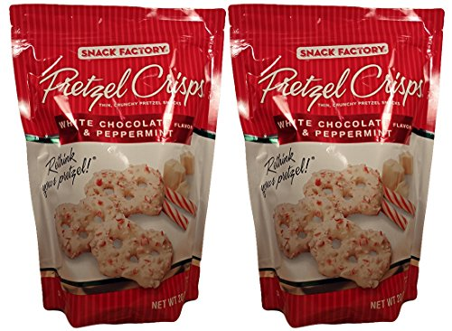 Snack Factory White Chocolate and Peppermint Pretzel Crisps 2-Pack (Chocolate Covered Pretzel Sticks compare prices)