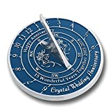 The Metal Foundry 15th Crystal Wedding Anniversary Sundial Gift Idea Is A Great Present For Him, For Her Or For A Couple To Celebrate 15 Years Of Marriage Review