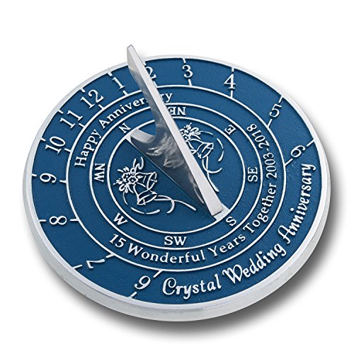 Looking For The Best 15Th Crystal Wedding Anniversary Gift  This Unique Sundial Gift Idea Is A Great Present For Him  For Her Or For A Couple To Celebrate 15 Years Of Marriage