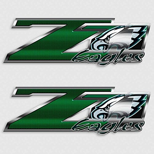 Eagles Truck Decal Set for Z71 Silverado Football Philadelphia - Tracking Mail Priority Us