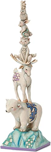Jim Shore for Enesco Heartwood Creek Stacked Winter Animals Figurine, 12.25-Inch