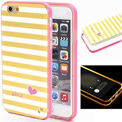 Price comparison product image iPhone 6 Case,  Wandeneng Hybrid Fancy Colorful Pattern Hard Soft Silicone Bumper Case Fit for iPhone 6 (4.7) (Polka Dot flowers)