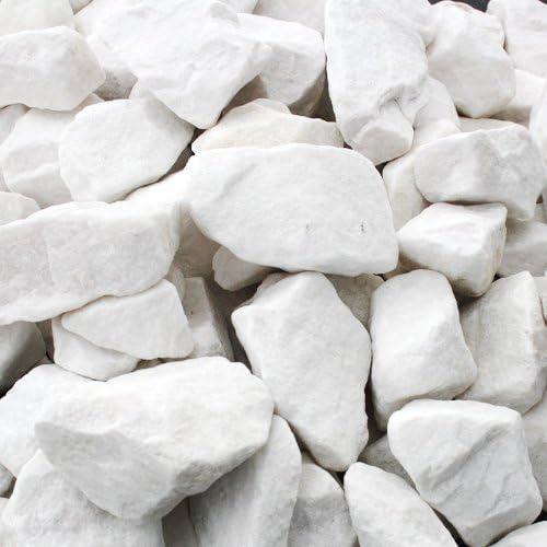Mármol Grava 1000 kg Big Bag Ganz Color Blanco Roto 8 – 12 mm Ornamentales Grava: Amazon.es: Jardín