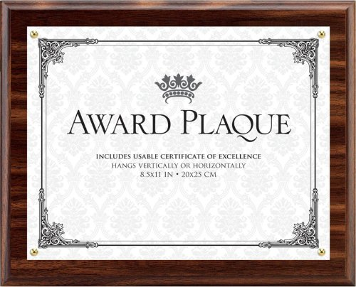 Plaque Award Tabletop (Burnes of Boston Award Plaque, 8.5 by 11-Inch)