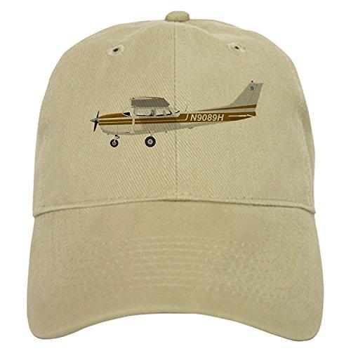 - Cessna 172 Skyhawk Brown - Baseball Cap with Adjustable Closure, Unique Printed Baseball Hat