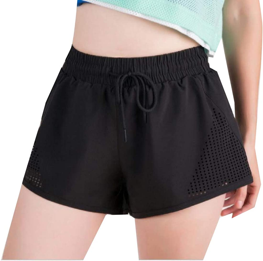 Fseason-Women Casual Leisure Drawstring Breathable Workout Short Pants