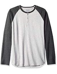 Amazon Essentials Men's Regular-Fit Long-Sleeve Baseball Henley Shirt
