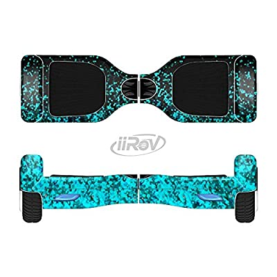 Design Skinz The Black and Turquoise Unfocused Sparkle Print Full-Body Wrap Skin Kit for The iiRov HoverBoards and Other Scooter (Hoverboard NOT Included) : Sports & Outdoors