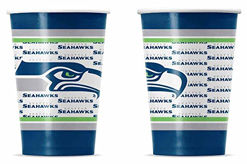 NFL Seattle Seahawks Disposable Paper Cups (20-Pack)