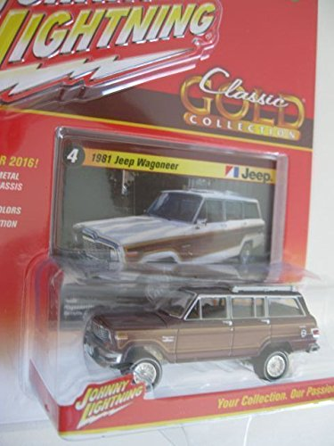 2016 Johnny Lightning Classic Gold Collection 1981 Jeep Wagoneer Burgundy #4 - Jeep Wagoneer Toy