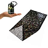 SEALEN Emergency Survival Sleeping Bag,Lightweight Waterproof Army Military Woodland Camouflage Thermal Insulation Compact Bivy Sack, Outdoor Frist Aid Gear for Camping Hiking Backpacking