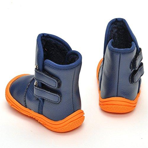 Chihiros Infant Baby Boy Girl Snow Boots Rubber Sole Anti-Slip Warm Winter Prewalker Waterproof Toddler Shoes