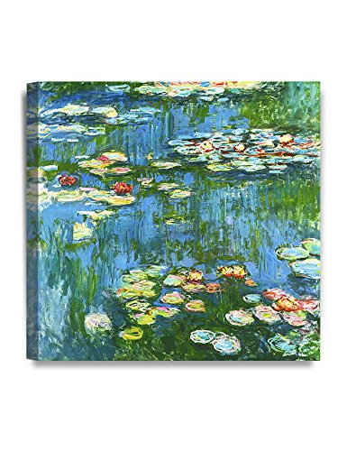 DECORARTS - Water Lily Pond 1914, Claude Monet Art Reproduction. Giclee Canvas Prints Wall Art for Home Decor 24x24