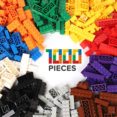 WYSWYG Building Bricks 1000 Pieces Blocks Compatible with All Major Brands