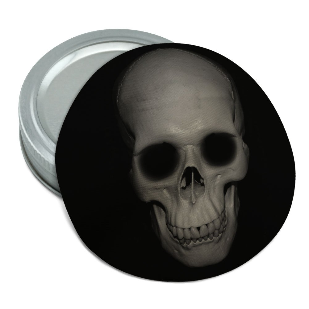 Amazon Human Skull Front View Round Rubber Non Slip Jar Gripper