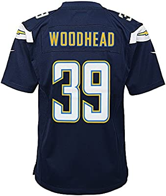 6f34e5695 Amazon.com   NIKE Danny Woodhead San Diego Chargers Home Navy Blue Game  Jersey Youth (S-XL)   Sports   Outdoors
