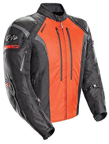 (Joe Rocket Atomic Men's 5.0 Textile Motorcycle Jacket (Orange, XXX-Large))