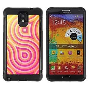 Paccase / Suave TPU GEL Caso Carcasa de Protección Funda para - Pattern Lines Pink Yellow - Samsung Note 3