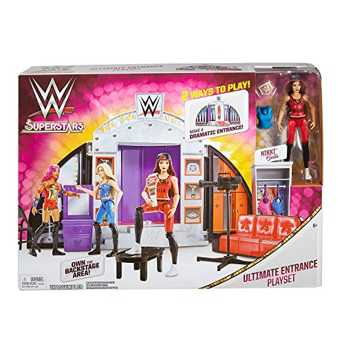 WWE Wrestling Superstars Ultimate Entrance Playset With Nikki Bella, Sliding Doors & Runway, 2 Ways To Play! Make A Dramatic Entrance! Own The Backstage Area! Ages 6+ New In Unopened Box by Generic