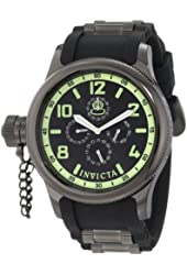 Invicta Watches Mens Russian Diver Chronograph Polyurethane Band Watch