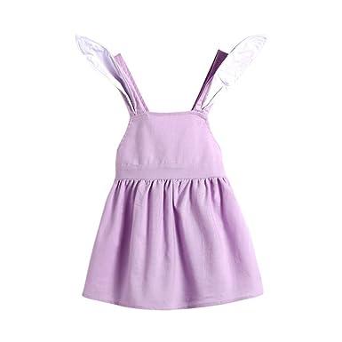 5edfb9ba8cc7 POIUDE Girl Clothes Baby Cartoon Rabbit Ear Backless Dress Cute ...